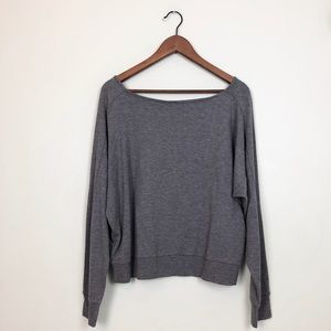 Zella gray cropped long sleeves top size L